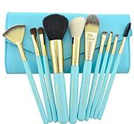 Make-up pour vous 10pcs bleu maquillage professionnel brosse cosmétiques