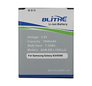 Blithe 1900mAh Battery For Samsung Galaxy S3 SIII, GT-I9300 I535 I747 T999[Non NFC pre-packaging]