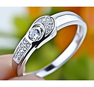 I FREE®Unisex Fashion S925 Silver And Mosaic Diamond Luxury Wedding Rings 2 pcs (1 pair)