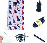 Ship PU Leather Case+Screen Protector+Cable+Earphone+Car Charger and Stylus For Samsung Galaxy S4 I9500