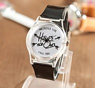 Women's Fashion Personality Transparent Plastic Time Watch Cool Watches Unique Watches