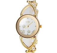 orologio grazioso fiore modello steel band quadrante braccialetto delle donne (colori assortiti)
