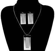 Fashion Rectangle Shape Shinning Jewelry Set(1 Set)