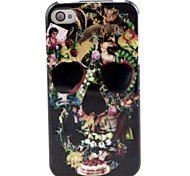 Skull Pattern TPU Soft Case for iPhone 4/4S