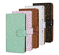 Hollow Pattern PU Leather Full Body Case with Stand and Card Slot for iPhone 4/4S (Assorted Colors)
