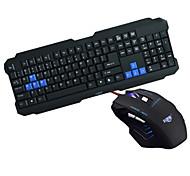 jogos kepusi usb impermeável rato&teclado kit 2400dpi