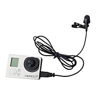 Professional Mini USB External Microphone With Collar Clip for GoPro Hero 3 3+