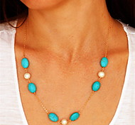 Blue Pendant Necklaces Party / Daily / Casual Jewelry