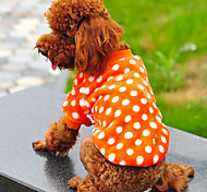 Hunde T-shirt Rot / Purpur / Orange / Rose Hundekleidung Winter Gepunktet