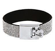 Elegant Rhinestone Heart Magnet Bracelets