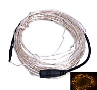 6W 3500K 100-0603 SMD LED Warm White Light Flexible Strip - Silvery + Black (DC 12V / 1000 cm)