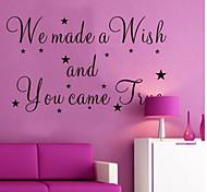 jiubai ™ nusery citação casa decoração da parede adesivos de parede decalque