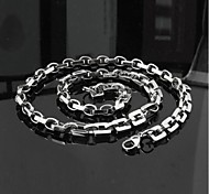 Z&X®  Men's Fashion  Personality Very Long Titanium Steel Necklaces