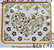 Miss You Style 3D Metal Nails Art Stickers Tattoo For Lover GF  DIY