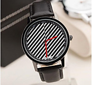 Men's Fashion Contracted Fine Diagonal Stripes Belt Watch