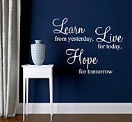 JiuBai™ Live Quote Home Decoration Wall Sticker Wall Decal