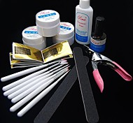 35PCS UV Acrylic Gel Topcoat Cleanser Brush Nail Art Start Basic Kit Set