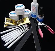 35pcs UV-Acryldecklack Gel Reiniger Pinsel Nail Art beginnen Basis-Kit-Set