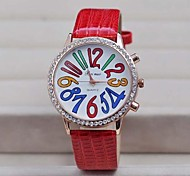 Women's Fashion Drill Color Digital Dial Watches(Assorted Colors)
