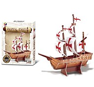 The Santa Maria Sailing Ship 3D Puzzles DIY Educational Toys for Children and Adult Jigsaw Puzzle(21PCS)