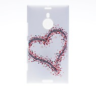 Kinston Big and Small Hearts Pattern Plastic Hard Case for Nokia Lumia 1520