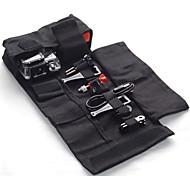 DUALANE C00004 Portable Canvas Travel Roll Bag for GoPro Hero 2 / 3 / 3+ - Black (Size M)
