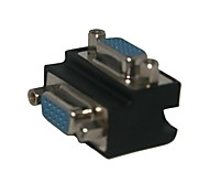 Standard 90 degree DB9P Female to Female 9-pin Connector Adapter Free Shipping