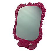 Rose Red Comestic Mirror with Rose Pattern