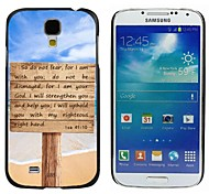 Milocos ™ l sa 41:10 Bible Verse Quote Sign On The Beach Hard Back Case for Samsuang Galaxy S4 9500