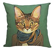 современный красивый кот хлопок / лен декоративная наволочка