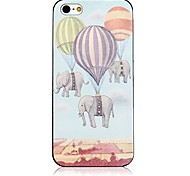 Fire Balloon Pattern Black Frame Back Case for iPhone 4/4S
