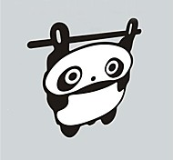 Funny Panda Hang Reflective Car Sticker.