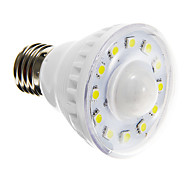 E26/E27 3W 12 SMD 5050 160-180 LM Warm White / Cool White A60(A19) Sensor LED Spotlight AC 220-240 V