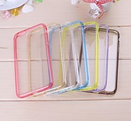 Colorful Bumper with Transprent Acrylic Back Pattern Soft  Case for iPhone 6