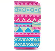Beautiful Tribal Carpet Pattern PU Leather Cover Case with Stand for Samsung Galaxy Win I8552