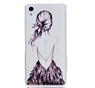 Figure Girl Pattern Hard Protective Cover for SONY Xperia Z2/D6502/D6503/L50W Case