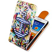 Colorful Anchor Up-down Turn Over PU Leather Full Body Case for  Samsung Galaxy S2 I9100