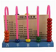 5 linea studente di legno abaco per i bambini giocattoli educativi colori casuali