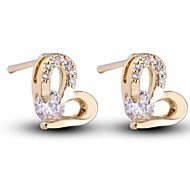 Women New Style Fashion Hot Sale Lovely Heart Zircon Earrings