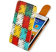Colorful Square Pattern Up-down Turn Over PU Leather Full Body Case for  Samsung Galaxy S2 I9100