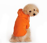 Dog Hoodie Red / Black / Gray / Orange Winter Solid