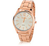 Women's Round Quartz Rose Gold Watch