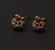 clássico bronze maçã forma brinco (1 par)