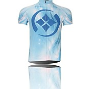 gocce d'acqua ciclismo poliestere traspirante a manica corta da uomo xintown s 'jersey-bianco + blu