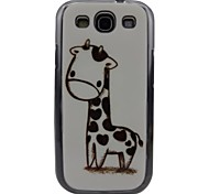 beau modèle de girafe dos pc de cas pour samsung i9300 l'