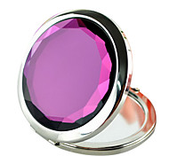 1Pcs Round Purple Comestic Mirror