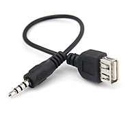 0,15 m 0.5ft usb 3.5mm Femmina al cavo audio mp3 aux maschio