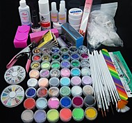 90pcs Glitter UV Gel Reiniger Primer Nail-Art-Kit-Set