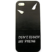 Do Not Touch My Phone Pattern Hard Case for iPhone 4/4S