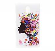Kinston Flower Girl Pattern Plastic Hard Case for Nokia Lumia 1320